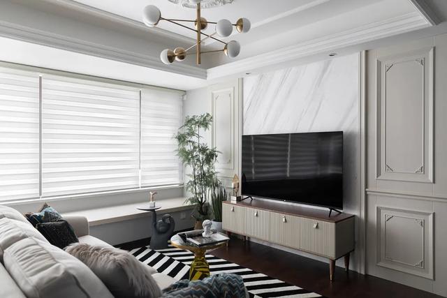 120平美式简约家装效果图 简约清新的元素喜欢不止一样
