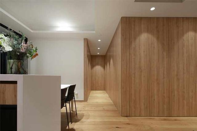 130平方简约风家装 不装电视墙也很美进门就被吸引了
