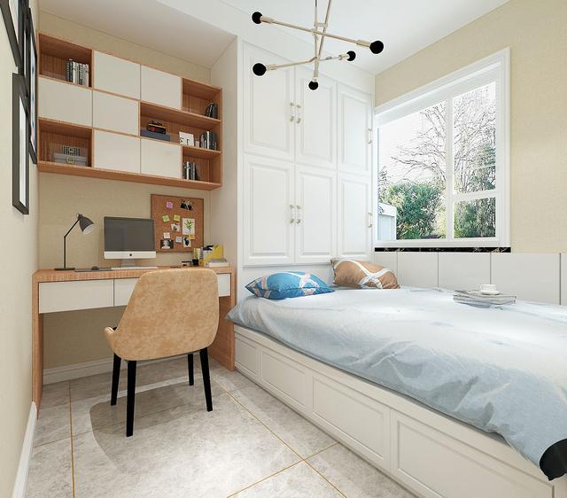 125㎡现代轻奢四居室效果图 冰箱嵌入到餐边柜省空间又美观